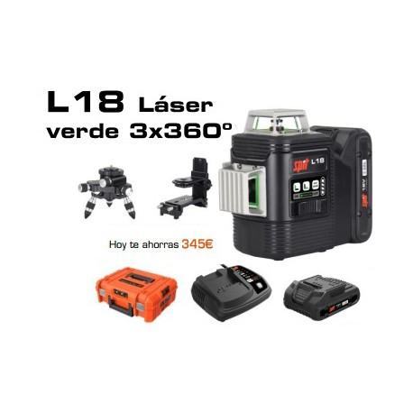 Nivel láser L18 SPIT - Verde 360º