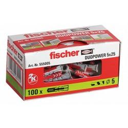 CAJA TACO DUOPOWER 5 x 25 FISCHER (100 UDS.)