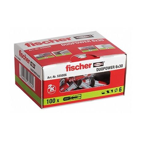 CAJA TACO DUOPOWER 6 x 30 FISCHER (100 UDS.)