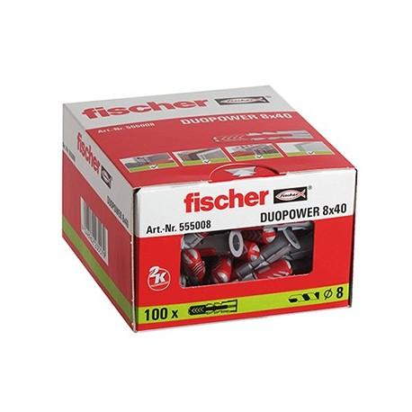 CAJA TACO DUOPOWER 8x40 FISCHER (100 UDS.)